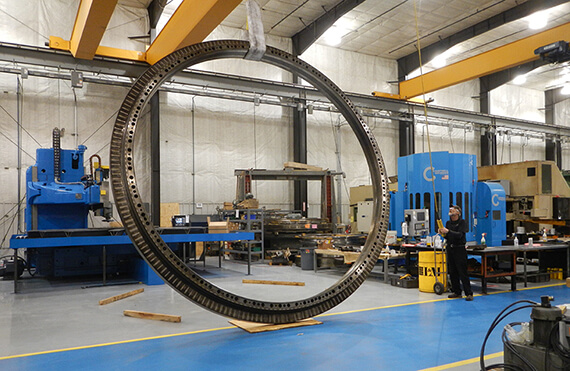Slewing Ring Bearings to Optimize Power Transmission